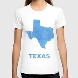 Texas map outline Blue Jeans watercolor T-shirt