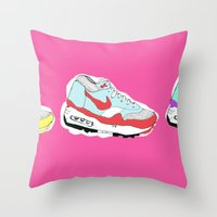 nike Throw Pillows featuring Nike Air by caseysplace