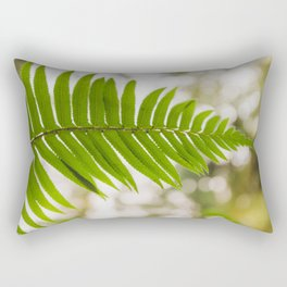 Fern in the shadows of the Redwoods Rectangular Pillow