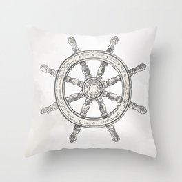 Steering wheel Throw Pillow