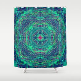 """Dyson"" - (Original Digital Artwork by Vincent Ferraro) Shower Curtain"