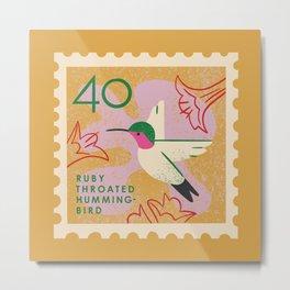 Hummingbird Postage Stamp Metal Print