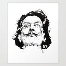 Salvador Dali Portrait Art Print