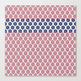 Patriotic Pillows, Red White and Blue Pillow Cover, Zippered Pillow, USA Cushion Cover, 4th of July  Canvas Print