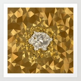 POLYNOID Piggy / Gold Edition Art Print