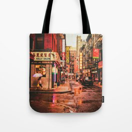 New York City Rain in Chinatown Tote Bag
