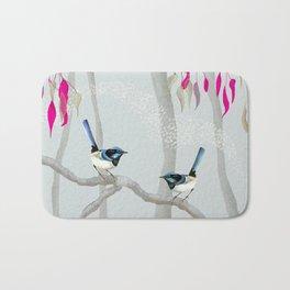 Blue Wren Australian Birds Bath Mat