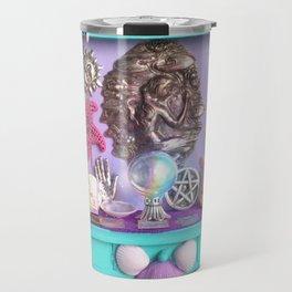 Mermaid Sea Witch Crystal Ball Altar Travel Mug
