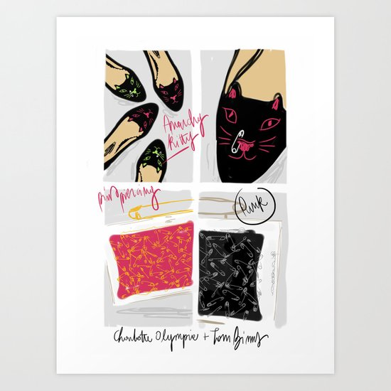 #theSliceSerie: Anarchy Kitty Art Print
