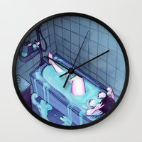 bath Wall Clocks featuring Bath  by BrimRun