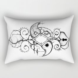 Double Curve Rendition Rectangular Pillow