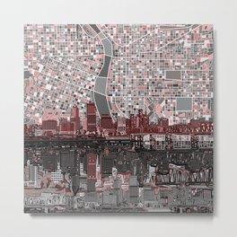 portland city skyline Metal Print