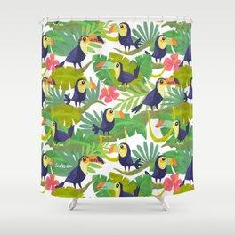 Toucan Paradise Pattern Shower Curtain