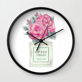 hetero tears Wall Clock