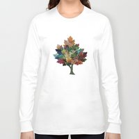fall Long Sleeve T-shirts featuring Fall is Back! by Klara Acel