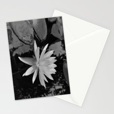 b&w water flower Stationery Cards