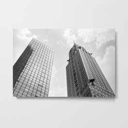 Empire State Building in the Clouds Metal Print
