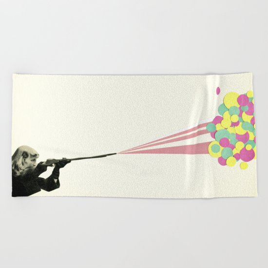 Water Fight Beach Towel