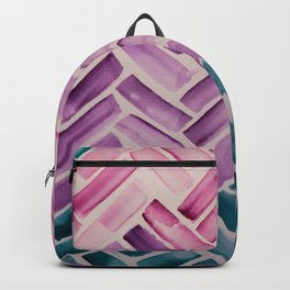 Decor Colorful Watercolor Abstract Pattern Backpack