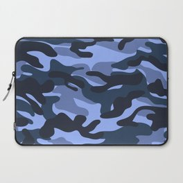 Blue Military Camouflage Pattern Laptop Sleeve
