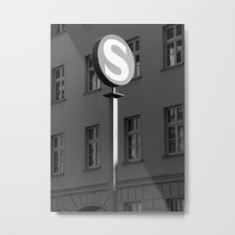S-Bahn road Sign Metal Print