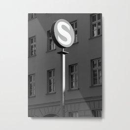 S-Bahn road Sign Metal Print