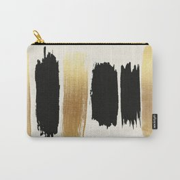 Brush Strokes (Black/Gold) Carry-All Pouch