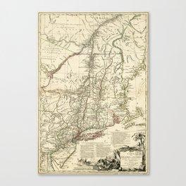 American Revolutionary War Map (1782) Canvas Print