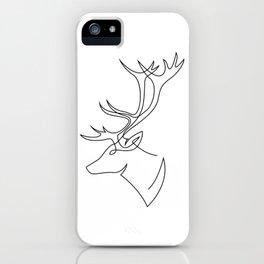 Deer line iPhone Case