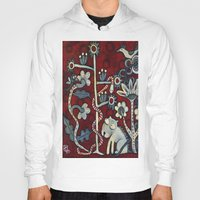 forrest Hoodies featuring Red Forrest by Dawna Kinne Magliacano