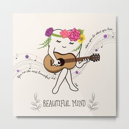 BEAUTIFUL MIND Metal Print