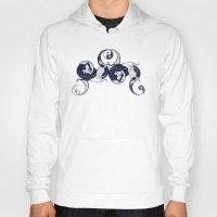 yin yang Hoodies featuring Yin & Yang by Charity Ryan