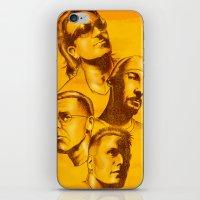 u2 iPhone & iPod Skins featuring U2 - Série Ouro by Renato Cunha