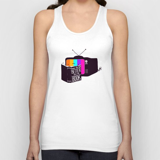 The Book Was Better Unisex Tank Top
