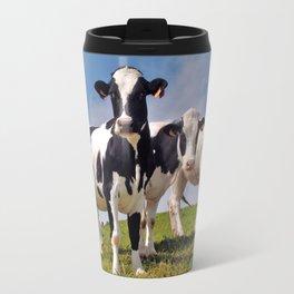 Young Holstein cows Travel Mug