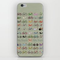 bicycle iPhone & iPod Skins featuring Bicycle by Wyatt Design