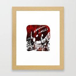 Ahhh Gurglll Framed Art Print