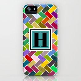 H Monogram iPhone Case
