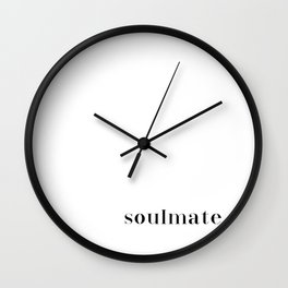 soulmate. Wall Clock