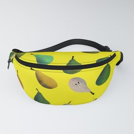 Pears pattern in yellow background Fanny Pack