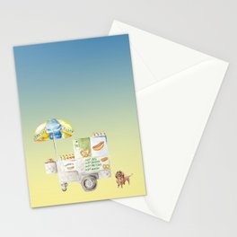 Hot Dog Truck Stationery Cards