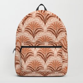 Palm leaves arch pattern - rust, terracotta, clay, desert, boho, ombre Backpack