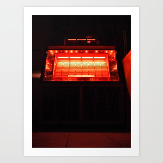 Jukebox waiting Art Print