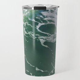 Sea Foam Green Ocean Wave Photograph Travel Mug