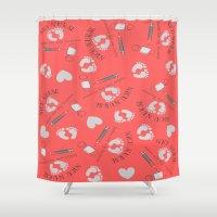 nurse Shower Curtains featuring NICU Nurse Tools by Kippygirl