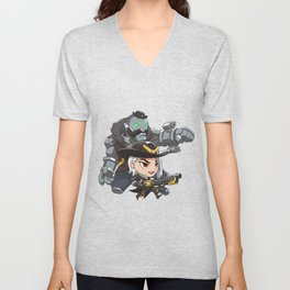 Ashe and bob cute spray Unisex V-Neck