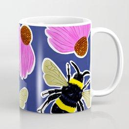 Bumblebee Floral Print  Coffee Mug
