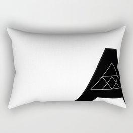 """Geometric Letter """"A"""" Rectangular Pillow"""
