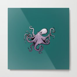 Mr. Octopus Metal Print
