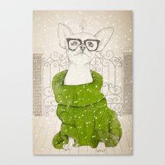 Hipster Chiuaua Canvas Print